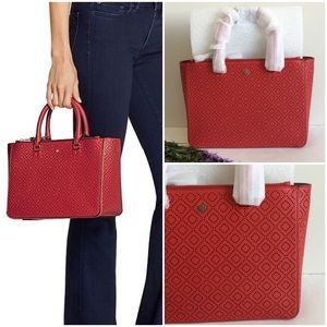Tory Burch Robinson Perforated Multi Tote